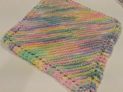 Knit cotton dishcloth