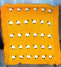 Sheep baby-blanket