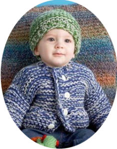 Baby sweater and hat set vignette