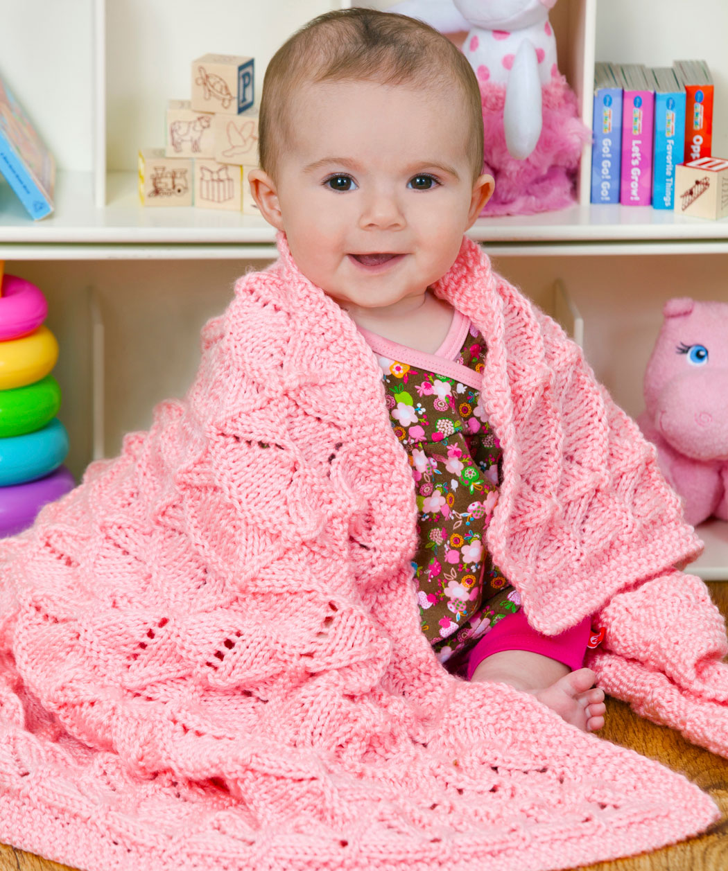 Easy Lace Baby Blanket Knitting Pattern : Knitting Patterns Baby Blanket With Hearts images