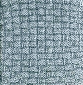 Knit & purl checkerboard variation in Intermediate knitting class