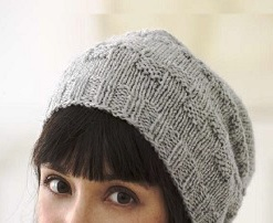 Knit slouchy-hat